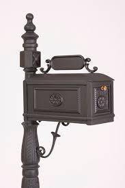aluminum mailbox post. Cast Aluminum Mailbox Decorative Better Box Black Post