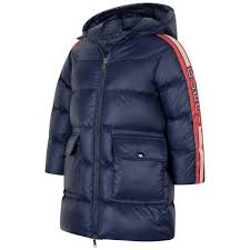 Gucci Coat Size Chart Gucci Girls Navy Blue Down Padded Coat