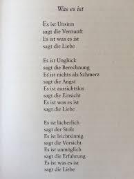 Gedichteausderwelt Was Es Ist Von Erich Fried 09 Sprüche