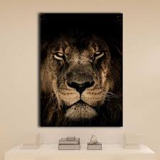 <b>Canvas</b> decorative painting wallpaper modular <b>HD printing</b> 1 lions ...