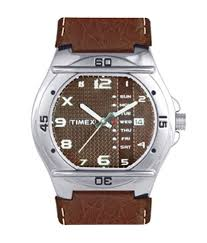 timex brown analogue wrist watch for men buy timex brown timex brown analogue wrist watch for men