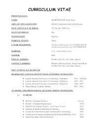 New Resume Format 2012 Pdf