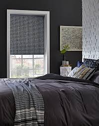 cubix denim roller bedroom blinds