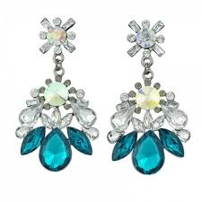 rhinestone colorful crystal big luxury chandelier earrings