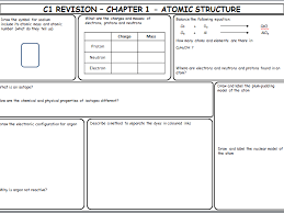 aqa trilogy gcse chemistry c1 revision sheets by amycooke93 teaching resources tes