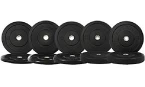 260 Lbs New Bumper Plates Set Olympic Solid Weight Plate