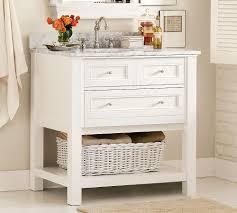 single white bathroom vanities. Incredible Bathroom Design Ideas With Sinks : Interesting Portable White Wood Single Vanities
