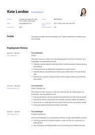 Housekeeping Resume 100 Housekeeper Resume Templates Free Download 92