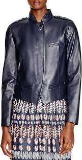 navy leather jackets tory burch leather moto jacket