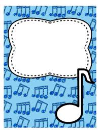 Page Binder Divider Or Binder Cover Page Music