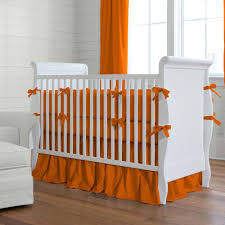 solid orange crib bumper  carousel designs