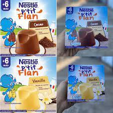 Bánh Flan cho bé 6 tháng trở lên Nestle P'tit Pháp vỉ 4 hộp (4x100g) –  tienthanhbeauty
