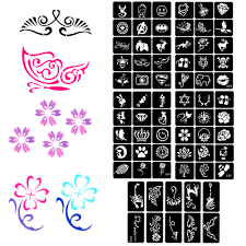 I Do Not Like This Painting Template Us 3 94 16 Off 5 Sheet Art Tattoo Stencil Kids Cute Painting Template Small Airbrush Henna Tattoo Stencils 70 Designs Flower Wings Symbol In Tattoo