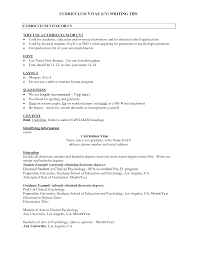 Psychology Sample Resumes Cv Template Psychology Resume Examples
