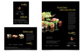 Sushi Restaurant Flyer & Ad Template - Word & Publisher