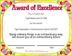 Award Certificate Template Primary School New Printable Achievement