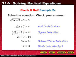 example 2c solve the equation check your answer add 1