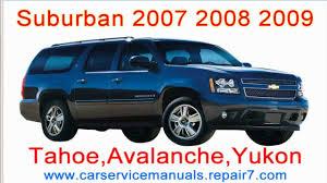 Chevrolet Suburban 2007 2008 2009 Repair Manual and workshop ...