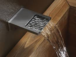 wall mounted waterfall bathtub faucet