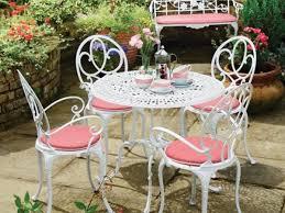 white iron garden furniture. White Pink Metal Garden Furniture Iron N