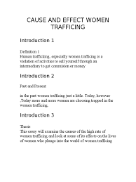 cause and effect women trafficing human trafficking sexual cause and effect women trafficing 2 human trafficking sexual intercourse