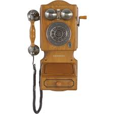 crosley classic country kitchen corded wall telephone