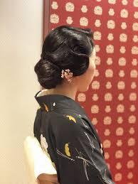 和装ヘアスタイル 大正ロマン 耳かけ 着付けと日本舞踊教室きもの