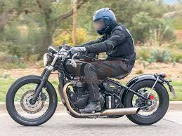 new triumph bonneville bobber cruiser spied mcn