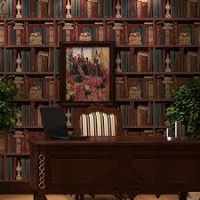 office backdrop. American Retro Wallpaper Pattern Bookcase Bookshelf Stereo England Office  Living Room Bedroom Den Backdrop M