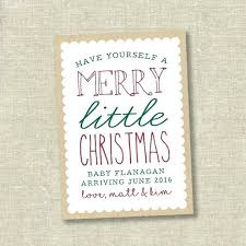 Christmas Pregnancy Announcement Card Custom Ultrasound
