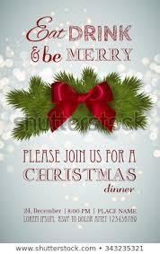 christmas dinner poster christmas party dinner invitation poster flyer stock vector royalty