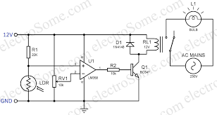 Automatic Light Operated Switch Using Ldr And Ic 741 Automatic Light Switch Circuit Schematic Wiring Schematic