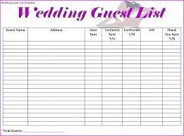 Wedding Excel Checklist Wedding Guest List Spreadsheet Project Excel Daily Task Tracker