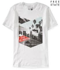 Cool Shirt Designs For Guys Free State City Of Los Angeles Graphic T Aeropostale Tee