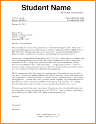 Gallery Of Cover Letter Examples For Students In High School
