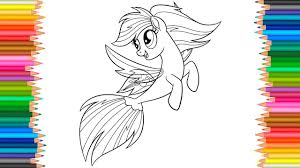 Rainbow Dash My Little Pony The Movie Coloring Pages Coloring