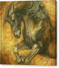 horse canvas print unleashed by silvana gabudean dobre