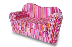 couch bed for kids. Furniture: Intriguing Pink Kids Sofa Bed And Stripes For Girls - Couch S