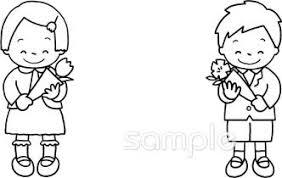 男の子 女の子 卒園式イラストなら小学校幼稚園向け保育園向けの