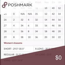 Size Chart For Womens Jeans Size Chart Pulled From Buckle