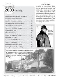 Clifton Merchant Magazine November 2003 By Clifton