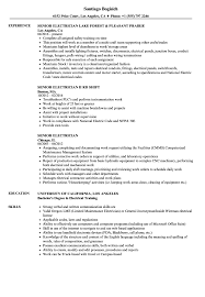 Electrician Resume Sample Senior Electrician Resume Samples Velvet Jobs 43