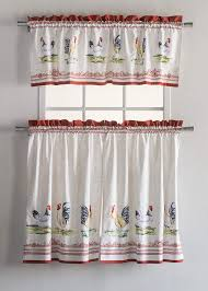 Kitchen Curtains With Rooster Designs Maison D Hermine Campagne 100 Cotton Kitchen Curtain Sets 2 Tiers 28 Inch By 36 Inch And 1 Valance 56 Inch By 18 Inch