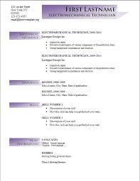 Resume Cv Format Resume Format For Word Cv Sample Word Docresume