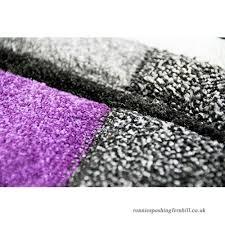designer rug living room carpet karo purple grey cream black size 160x230 cm b0776x8vyg