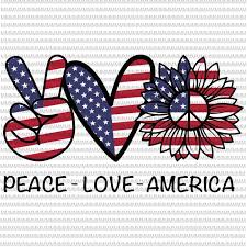 One flag, one land, one heart, one hand, one nation evermore! Peace Love America Svg Peace Sign Svg Peace Love Svg 4th Of July Svg Patriotic Svg Cricut Silhouette Cut Files Svg Dxf Buy T Shirt Design Artwork Buy T Shirt Designs