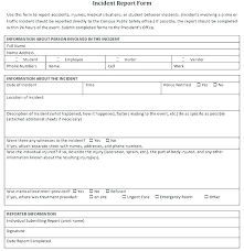 Best National Police Incident Report Form Blank Template Sample Fake