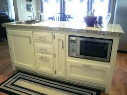 kitchen island with microwave cabinet