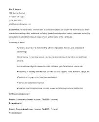 Cosmetology Resume Objectives Best Of Resume For Cosmetologist Sample Resume For Cosmetologist Resume