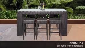 bermuda bar table set with backless